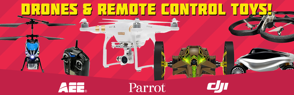 Drones and remote control toys
