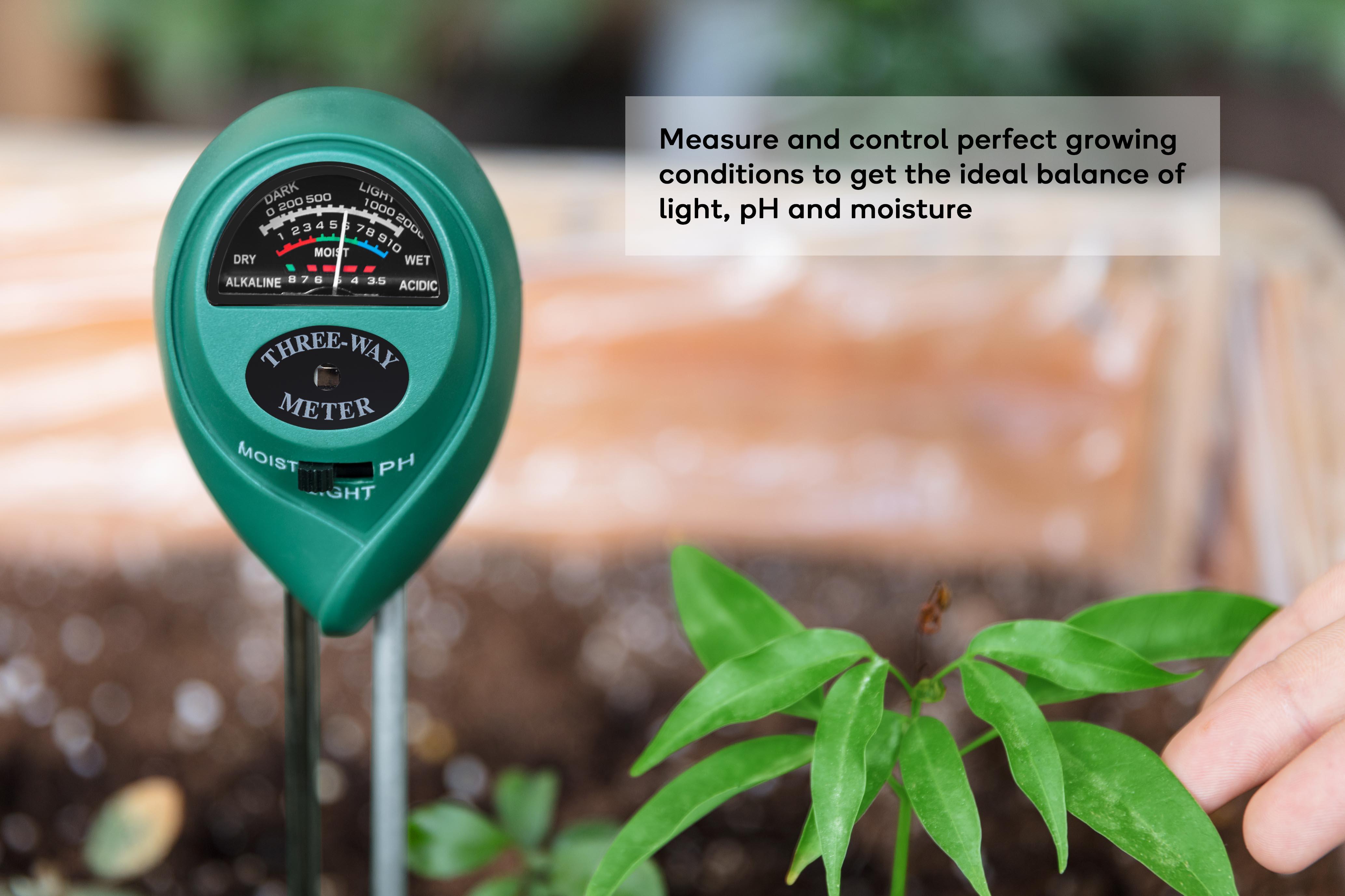 Certa 3 in 1 Soil pH, Moisture and Light Tester