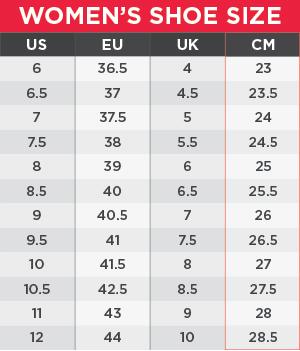 New Balance Women's Size chart