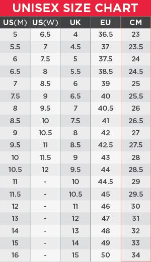 Vans Unisex Size Chart